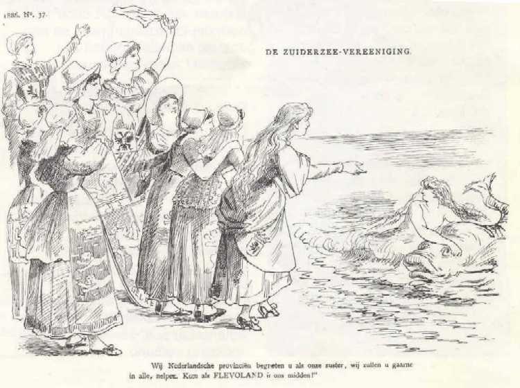 Na 1886 zou het nog 100 jaar duren voordat Flevoland een provincie werd
